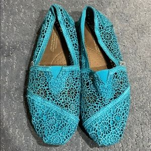 Toms Turquoise Shoes Size 7